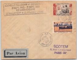 LETTRE DE NOUMEA NOUVELLE CALEDONIE  AVEC TP OEUVRES SOCIALES  =>  FRANCE COVER COLONIES - Cartas