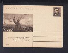 Czechoslovakia Stationery Stalin Unused - Interi Postali