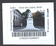Biber Post Humboldt Uni Unter Den Linden, Berlin (48) Gezähnt Neues Logo  G305 - [7] Repubblica Federale