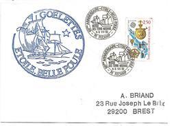 OBLITERATION 60 ANS DES GOELETTES ETOILE ET BELLE POULE à FECAMP 1992 - Postmark Collection (Covers)