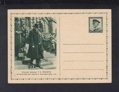 Czechoslovakia Stationery 1932 Masaryk