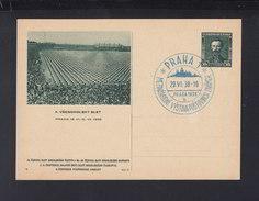 Czechoslovakia Stationery 1938 X. Slet