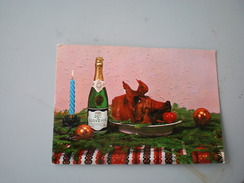 Duc De Slovenie, Dry Sparkling Wine, Christmas Postcard, 1974 - Pubblicitari