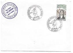 OBLITERATION EXPO PHILA LA POSTE à LIEVIN PAS DE CALAIS 1983 - Postmark Collection (Covers)