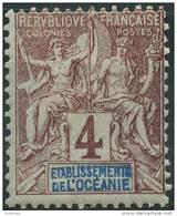 Oceanie (1892) N 3 * (charniere) - Oceania (1892-1958)