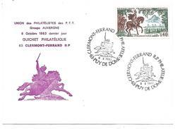 OBLITERATION CLERMONT FERRAND PHILATELIE VERCINGETORIX 1983 - Postmark Collection (Covers)