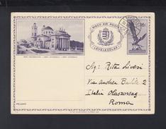 Hungary Stationery 1938 Eger Used - Postal Stationery