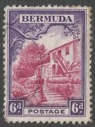 Bermuda. 1936-47 KGV. 6d Used. SG 104 - Bermuda