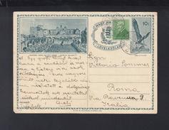 Hungary Stationery 1936 To Italy - Postal Stationery