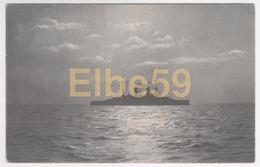 Kiel (Schleswig-Holstein), AK, Kriegsschiff Bei Mondschein, Gelaufen 1905 - Guerra
