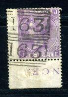GB 1867 QV 6d LILAC PLATE 6 - GREENOCK PMK - 1840-1901 (Victoria)