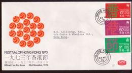 HONG KONG 1973 FESTIVAL FDC - Hong Kong (...-1997)
