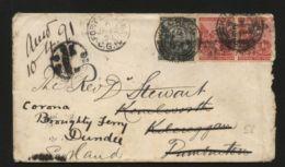 CAPE OF GOOD HOPE 'KILCREGGAN' 1891 COVER TO SCOTLAND - South Africa (...-1961)