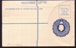 CYPRUS QUEEN ELIZABETH 4 Piastres REGISTERED ENVELOPE - Cyprus (...-1960)
