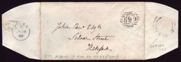 GB 1859 'ALBINO' 1d PINK PRE-STAMPED COVER - Postmark Collection