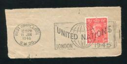 GB UNITED NATIONS RARE POSTMARK WEST WIMBLEDON 1946 - 1902-1951 (Kings)