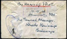 RHODESIA BULAWAYO WORLD WAR TWO RAILWAY BY HAND OF PILOT 1943 - Grande-Bretagne (ex-colonies & Protectorats)