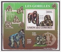 0066 Comores 2009 Aap Ape Monkey Gorilla Gorilles S/S MNH Imperf - Apen