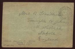 GB/WW1/POW/GERMANY 1914 POSTCARD - England