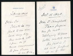 9 LETTERS SIR ARTHUR BIGGE LORD STAMFORDHAM TO ROYAL NORMAL COLLEGE FOR BLIND - Historische Documenten