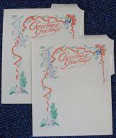 NYASALAND 1952 CHRISTMAS AIR LETTERS STATIONERY LAKE MAP - Nyasaland (1907-1953)