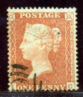 GB 1d RED 1854 SMALL CROWN PERF 16 DIE 11 INVERTED WMK - 1840-1901 (Victoria)