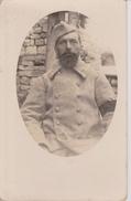 Cinq Cartes Photos De 2 Frères Poilus En 1916/17 ( Même Album ). Brassard De Deuil Et Chevrons D'Ancienneté De Guerre. - Guerre 1914-18