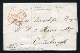 GB LONDON 4d POST EDINBURGH 1839 QUEEN VICTORIA - Postmark Collection