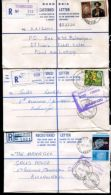 RHODESIA REGISTERED STATIONERY SMALL OFFICES ORCHID DUAL CURRENCY - Great Britain (former Colonies & Protectorates)