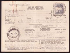PALESTINE -ADVICE OF DELIVERY CARD 1934 - Palestine