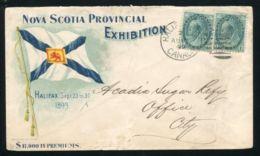 NOVA SCOTIA LION SUGAR 1899 ILLUSTRATED EXHIBITION ENVELOPE - Commemorative Covers