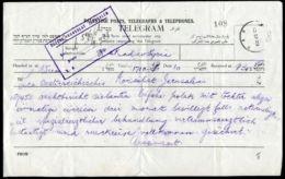 PALESTINE TELEGRAM AUSTRIAN CONSULATE - Palestine