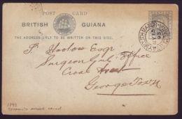 BRITISH GUIANA POSTAL STATIONERY QV 1893 - British Guiana (...-1966)