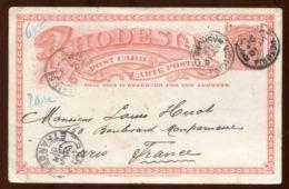 RHODESIA POSTAL STATIONERY VICTORIA POSTMARK 1901 - Grande-Bretagne (ex-colonies & Protectorats)