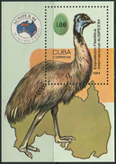 Cuba 1984. Michel Bl.#85 MNH/Luxe. International Stamp Exhibition AUSIPEX '84, Melbourne. (Ts27) - Ostriches