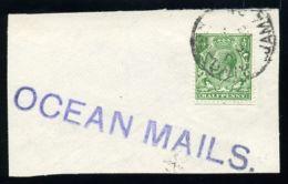 GB KGV USED ABROAD KINGSTON, JAMAICA OCEAN MAIL - 1902-1951 (Kings)