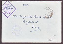 IRAQ 1945 CENSORED COVER - Iraq