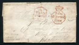 IRELAND 1836 DUBLIN MAYNOOTH SOLDIER'S CONCESSION RATE ROYAL ARTILLERY - Ireland