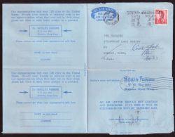 HONG KONG-FASHION ADVERT AIRLETTER TO USA 1969 - Hong Kong (...-1997)