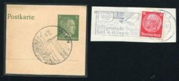 ROWING AND SAILING POSTMARKS 1936 AND 1944 - Hockey (Ice)