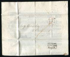 GB RAILWAYS GLASGOW 1844 MEMORANDUM ON GOVERNMENT BILL NATIONALISATION - Old Paper