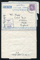 ADEN AIRLETTER KG6 WW2 RAF CENSOR 1944 - Aden (1854-1963)