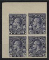 TURKS & CAICOS 1928 IMPERF PLATE PROOF 2d GV - Turks And Caicos