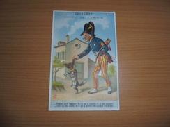 """Chromo """" Balleroy-Hotel De France-Vve Vintras """" : Gendarme Et Chien - Trade Cards"""