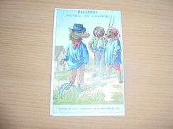 """Chromo """" Balleroy-Hotel De France-Vve Vintras """" : 2 Chiens Et Un Loup - Trade Cards"""