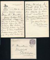GB QUEEN VICTORIA GRAND HOTEL LONDON LION 1900 - Unclassified