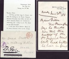 SIR DIGHTON PROBYN LETTER ASSOCIATED ENVELOPE MARLBOROUGH HS 1881 GLEICHEN - Other Collections
