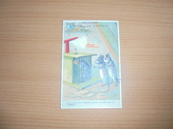 "Chromo "" Balleroy-Hotel De France-Vve Vintras "" : 3 Rats Dont Un En Cage - Trade Cards"