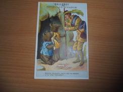 """Chromo """" Balleroy-Hotel De France-Vve Vintras """" : 2 Ours Et Un Chasseur - Trade Cards"""