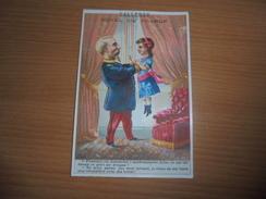 "Chromo "" Balleroy-Hotel De France-Vve Vintras "" : Petie Fille Et Colonel - Trade Cards"